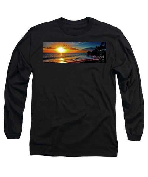 Maui Wedding Beach Sunset  Long Sleeve T-Shirt by Tom Jelen