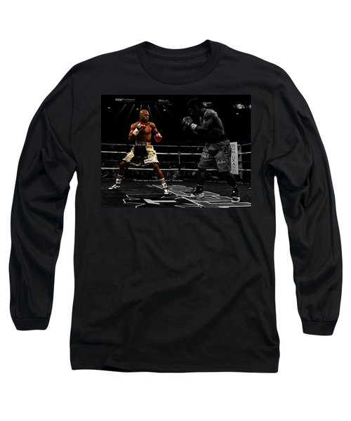 Mayweather And Pacquiao Long Sleeve T-Shirt by Brian Reaves