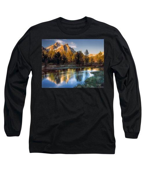 Mcgown Peak Sunrise  Long Sleeve T-Shirt by Leland D Howard