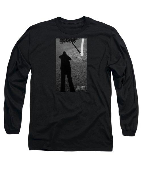 Me And My Shadow Long Sleeve T-Shirt by Nareeta Martin