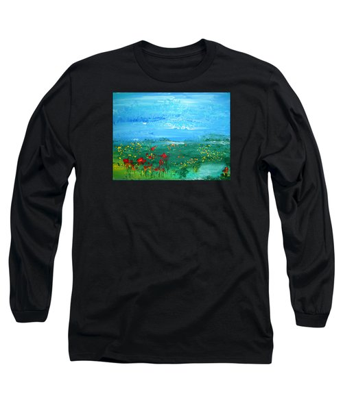 Meadow Pond By Colleen Ranney Long Sleeve T-Shirt