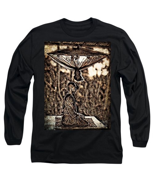 Meditating Monk Long Sleeve T-Shirt