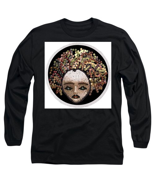 Medusa Bedazzled Round Beach Towel Long Sleeve T-Shirt