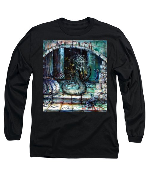 Long Sleeve T-Shirt featuring the painting Medusa by Heather Calderon