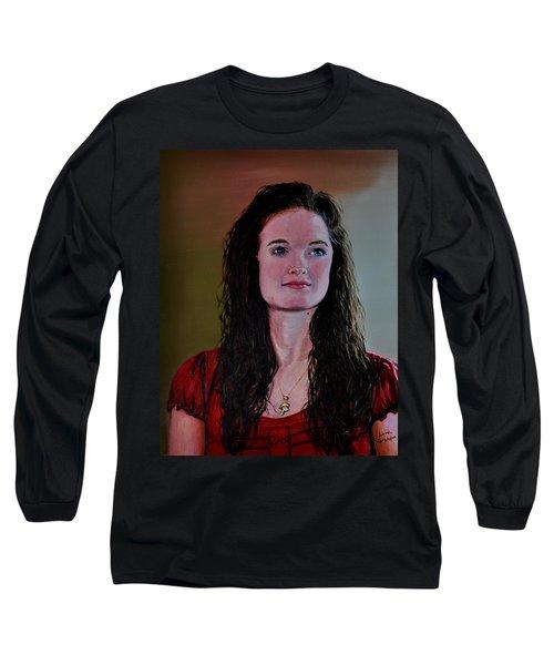 Megan At Eighteen Long Sleeve T-Shirt by Stan Hamilton