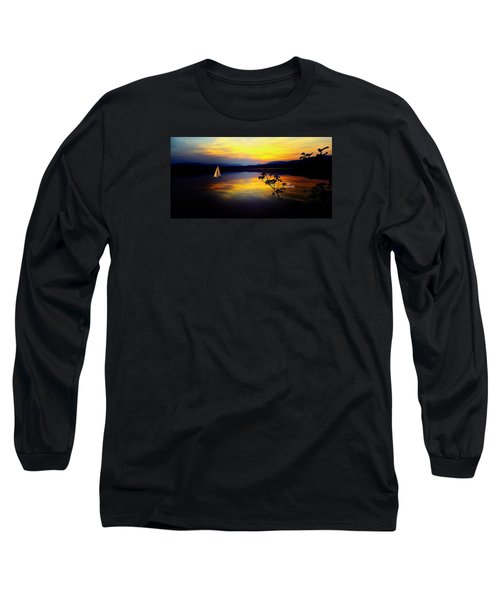 Mellow Moments In New England Long Sleeve T-Shirt