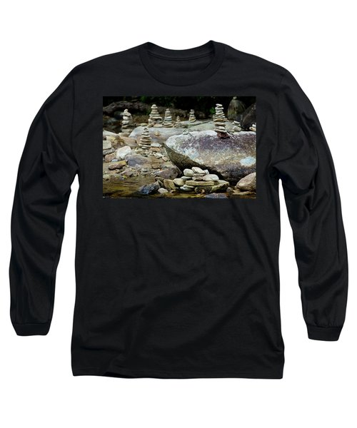 Memorial Stacked Stones Long Sleeve T-Shirt