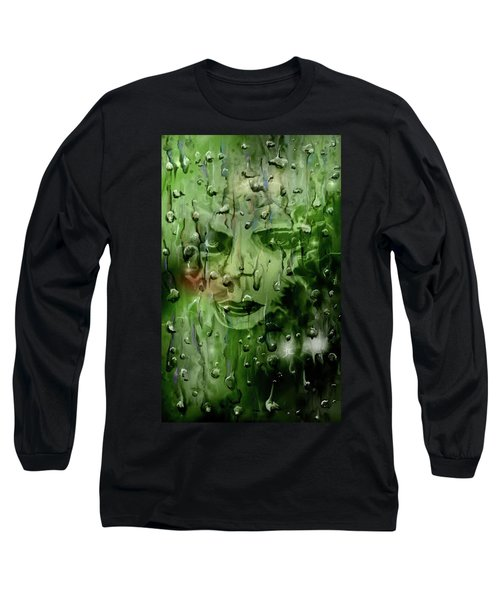 Long Sleeve T-Shirt featuring the digital art Memory In The Rain by Darren Cannell