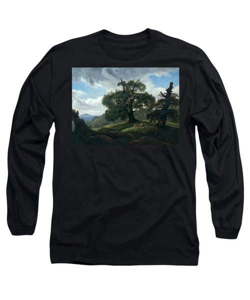 Memory Of A Wooded Island In The Baltic Sea Long Sleeve T-Shirt