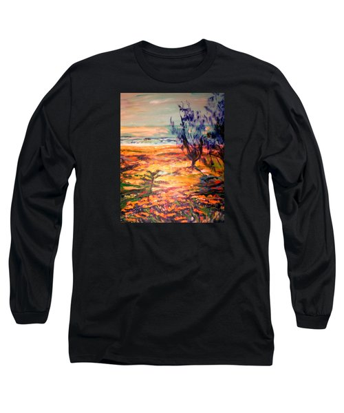 Long Sleeve T-Shirt featuring the painting Memory Pandanus by Winsome Gunning