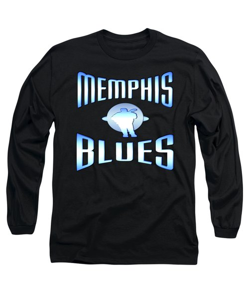 Memphis Blues Music Design Long Sleeve T-Shirt