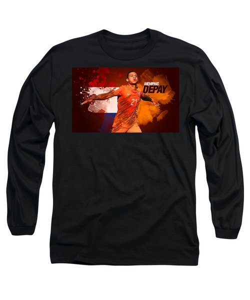 Memphis Depay Long Sleeve T-Shirt by Semih Yurdabak