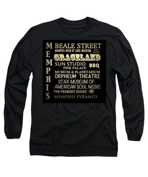 Memphis Tennessee Famous Landmarks Long Sleeve T-Shirt