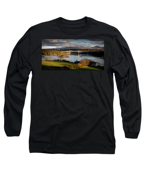 Menai Strait From Anglesey Long Sleeve T-Shirt