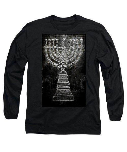 Long Sleeve T-Shirt featuring the digital art Menorah by Aaron Berg