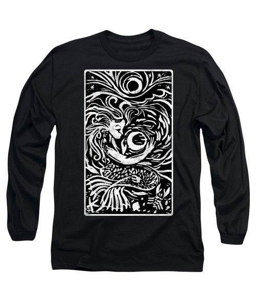 Mermaid Moon Long Sleeve T-Shirt by Katherine Nutt