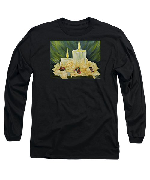 Our Lady And Child Jesus Long Sleeve T-Shirt by AmaS Art