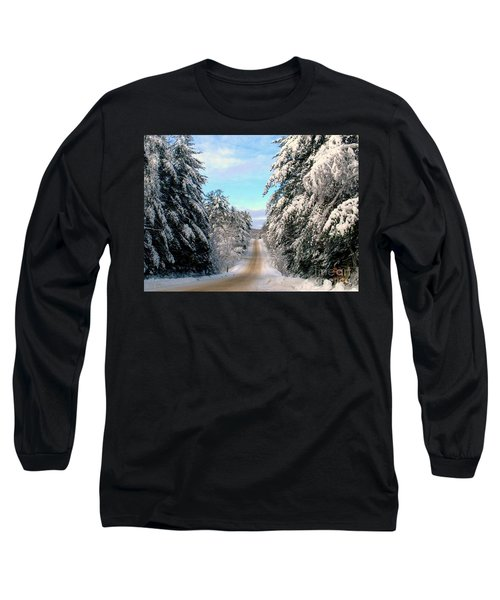 Merry Christmas,happy Holidays Long Sleeve T-Shirt by Elfriede Fulda
