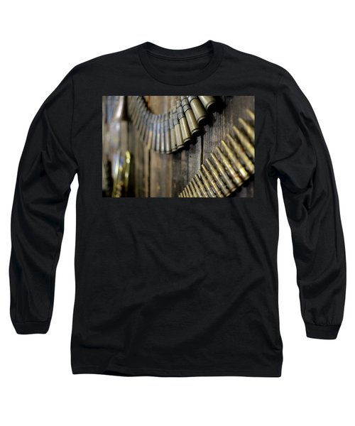 Long Sleeve T-Shirt featuring the photograph Metal And Wood by Lora Lee Chapman