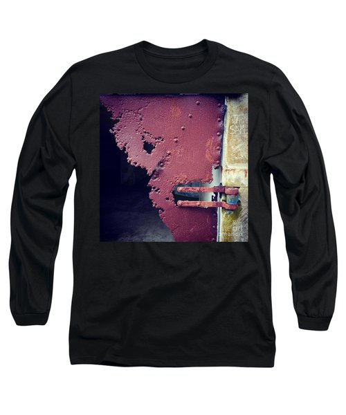 Metal Door Ode To Sam Long Sleeve T-Shirt by Suzanne Lorenz