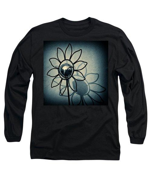 Metal Flower Long Sleeve T-Shirt