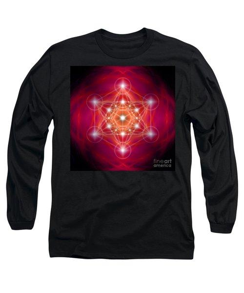 Metatron's Cube Female Energy Long Sleeve T-Shirt