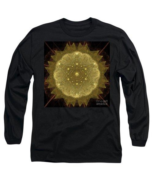 Metatron's Cube Geometric Long Sleeve T-Shirt