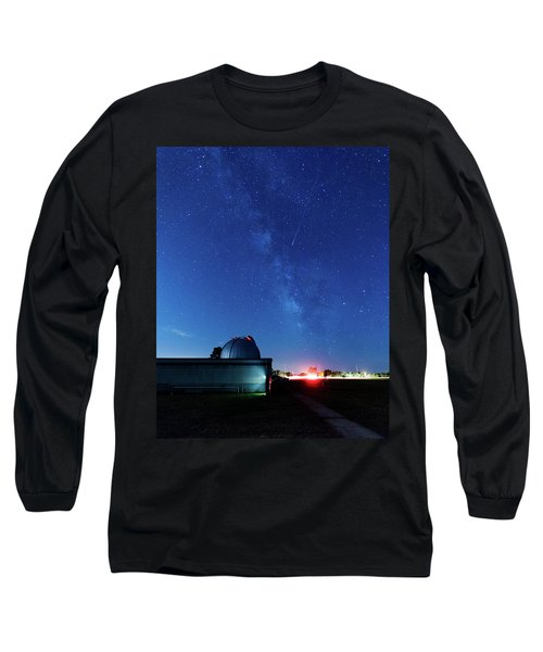 Meteor And Observatory Long Sleeve T-Shirt by Jay Stockhaus