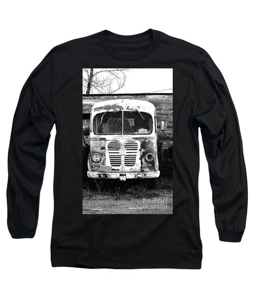 Metro Black And White Long Sleeve T-Shirt by Renie Rutten