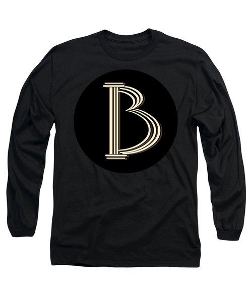 Metropolitan Park Deco 1920s Monogram Letter Initial B Long Sleeve T-Shirt
