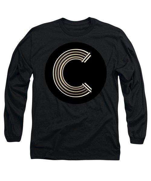 Metropolitan Park Deco 1920s Monogram Letter Initial C Long Sleeve T-Shirt