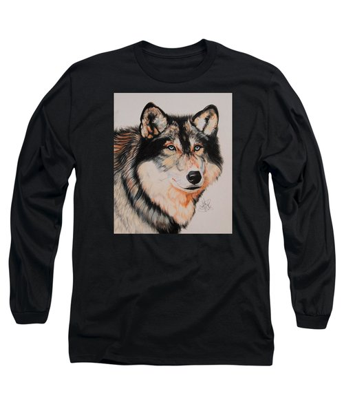 Mexican Wolf Hybrid Long Sleeve T-Shirt