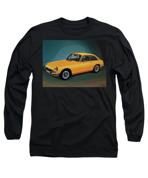 Mgb Gt 1966 Painting  Long Sleeve T-Shirt by Paul Meijering