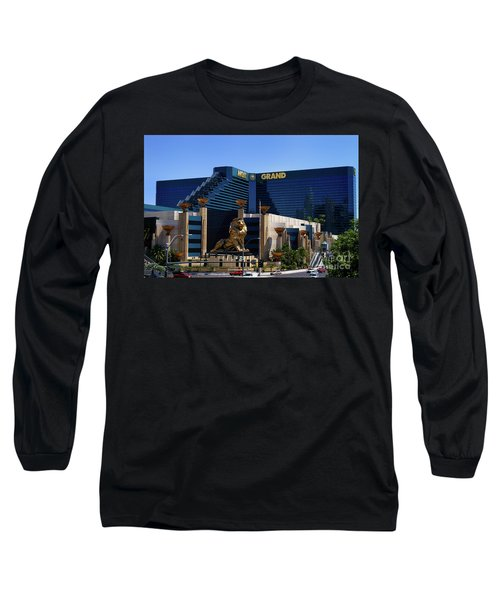 Mgm Grand Hotel Casino Long Sleeve T-Shirt by Mariola Bitner