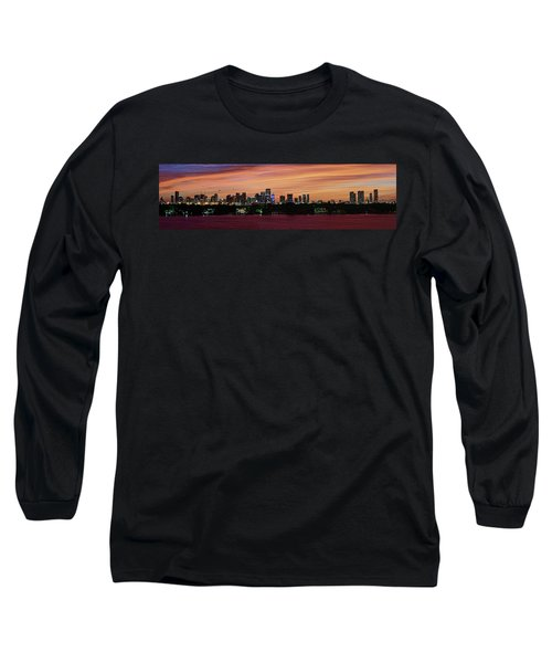 Miami Sunset Panorama Long Sleeve T-Shirt