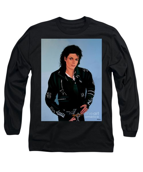 Michael Jackson Bad Long Sleeve T-Shirt by Paul Meijering