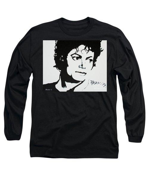 Michael Jackson Long Sleeve T-Shirt by Katharina Filus