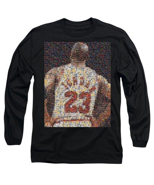 Michael Jordan Card Mosaic 2 Long Sleeve T-Shirt