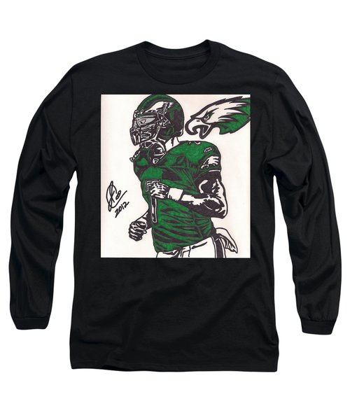 Long Sleeve T-Shirt featuring the drawing Micheal Vick by Jeremiah Colley