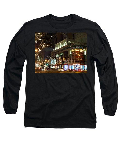 Michigan Avenue  Long Sleeve T-Shirt by Elizabeth Coats