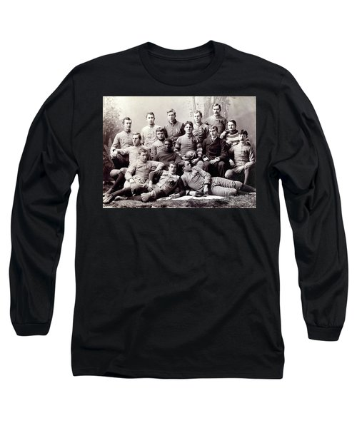 Michigan Wolverine Football Heritage 1890 Long Sleeve T-Shirt by Daniel Hagerman