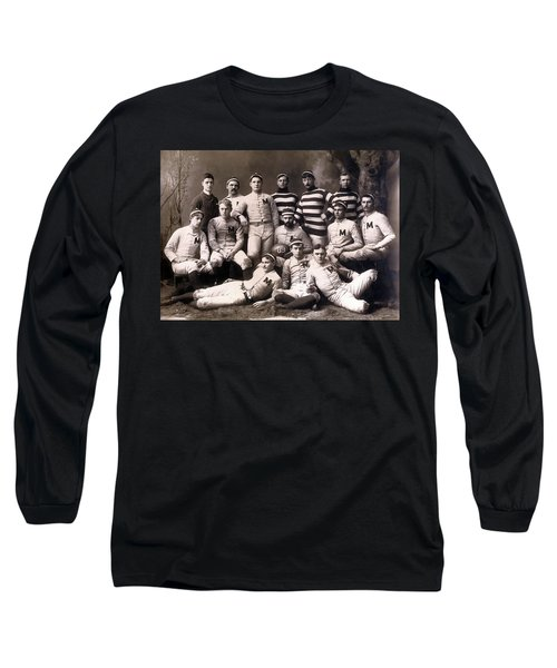 Michigan Wolverines Football Heritage 1888 Long Sleeve T-Shirt by Daniel Hagerman