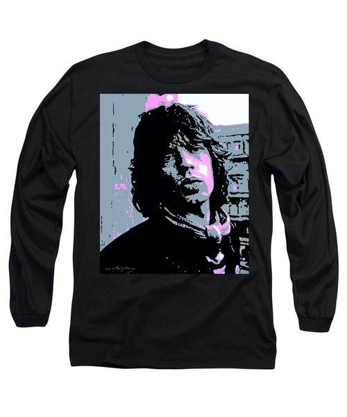 Mick Jagger In London Long Sleeve T-Shirt