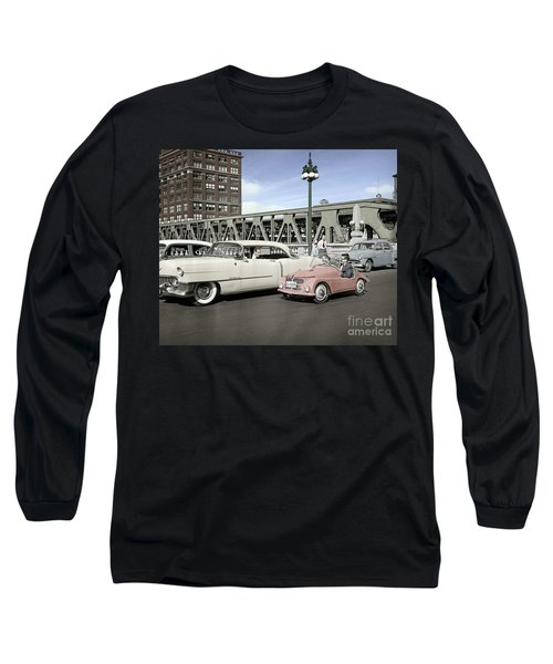 Long Sleeve T-Shirt featuring the photograph Micro Car And Cadillac by Martin Konopacki Restoration