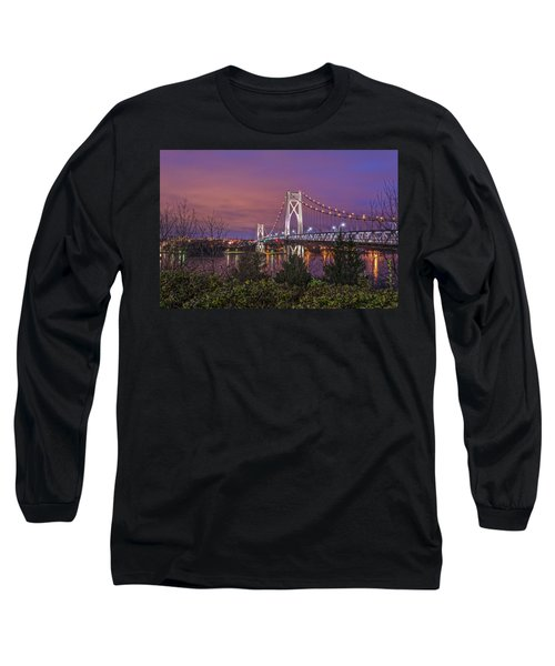 Mid Hudson Bridge At Twilight Long Sleeve T-Shirt