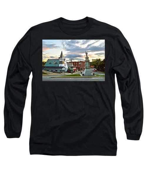 Middlebury Vermont At Sunset Long Sleeve T-Shirt by Catherine Sherman