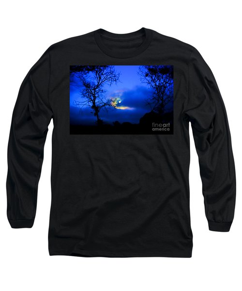 Midnight Clouds Long Sleeve T-Shirt by Blair Stuart
