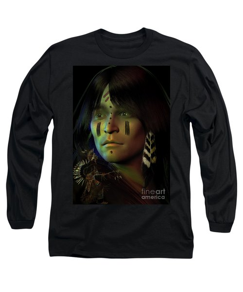 Long Sleeve T-Shirt featuring the digital art Midnight Dreaming by Shadowlea Is