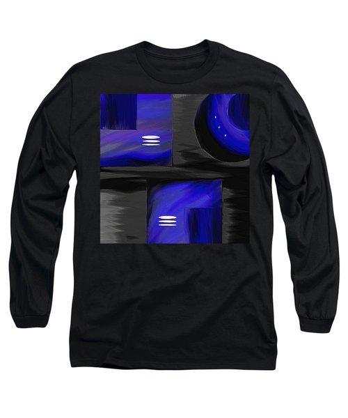 Midnight Long Sleeve T-Shirt by Ely Arsha