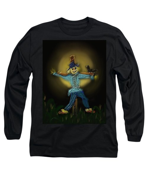 Long Sleeve T-Shirt featuring the painting Midnight In The Cornfield by Kevin Caudill